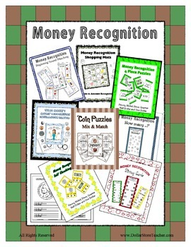 Money Recognition Center Themed Unit Nickel, Quarter, Dime, Penny and more