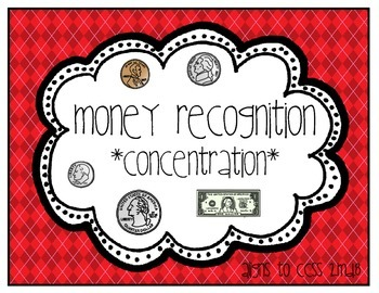 Money Recognition - Concentration/Memory (2.MD.8)