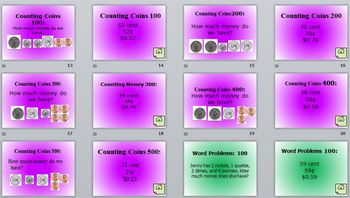 Money Review Jeopardy PowerPoint Game for Common Core Standards