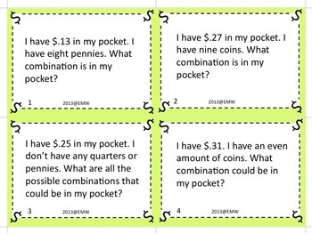 Money Riddle and Logic Game Task Cards - Higher Level Thinking!