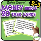 Money Task Cards Riddle and Logic for Higher Level Thinking