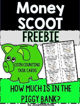 Money SCOOT - Counting Coins Task Cards FREEBIE