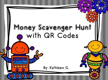 Money Scavenger Hunt with QR Codes