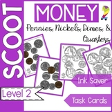 Money Scoot (pennies, nickels, dimes, quarters) B&W/Color Formative Assessment