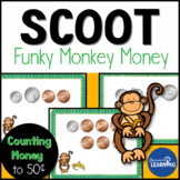 Counting Money Game Card Packet and Scoot Game