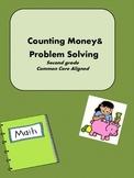 Money Sheets Second Grade Common Core Aligned