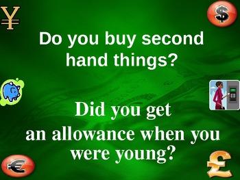 Money / Shopping - Adult English Conversation PowerPoint