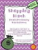 Money Shopping Math Worksheets