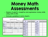 Money Skills Assessment for ABA, Autism, or Early Elementary Education