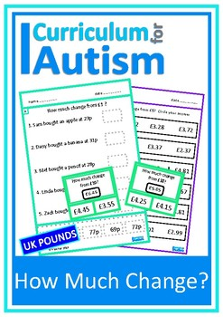 Money Skills Calculating Change Autism UK SEND Maths