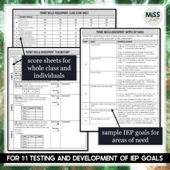 Money Skills Curriculum Based Assessment