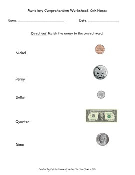 Money Skills Instructional Materials (FREEBIE)