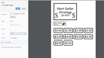 Money Skills Task Folders