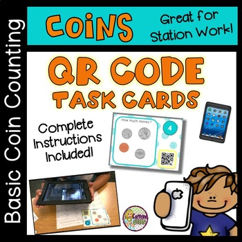 Coin Skills Task Cards with QR Codes