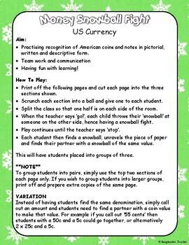 Money Snowball Fight (US$)