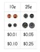 Money Sort - Pennies,  Nickels, Dimes, & Quarters