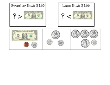 Money Sorting Activity