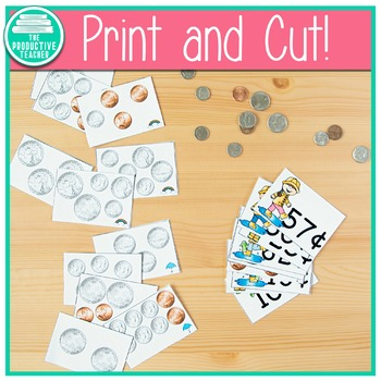 Money Sorting Cards