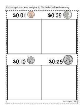 Money Sorting File Folder Activities