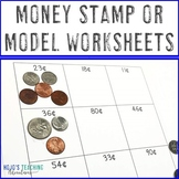 Counting Money Worksheets: Stamp or Model - Coin Values fr