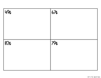 Money Stamps Differentiated Practice Sheets