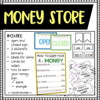 Money Store- Editable