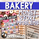 Money Story Problem Task Cards - Bakery