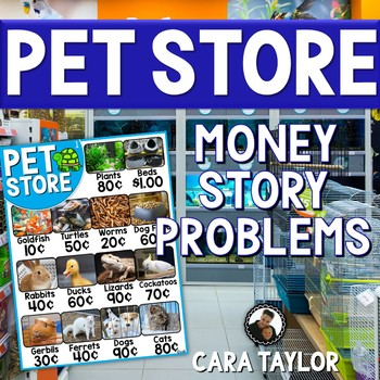 Money Story Problem Task Cards - Pet Store