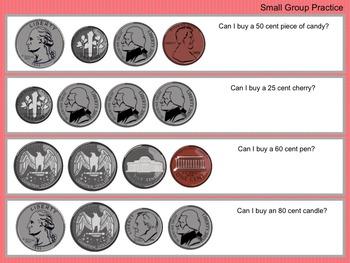 Money Story Problems SmartBoard Lesson