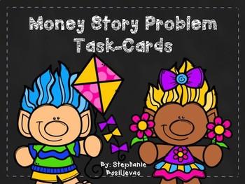 Money Story Problems (Spring Troll Theme)