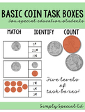 Money Task Boxes for Students with Autism