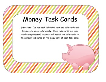 Money Task Cards (1 cent - 25 cents)