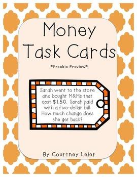 Money Task Cards Sample