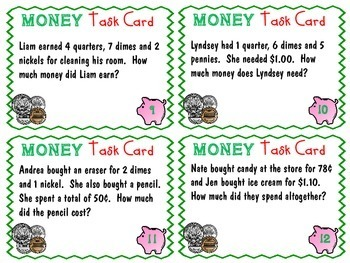 Money Task Cards