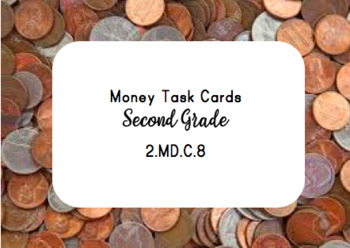 Money Task Cards 2.MD.C.8
