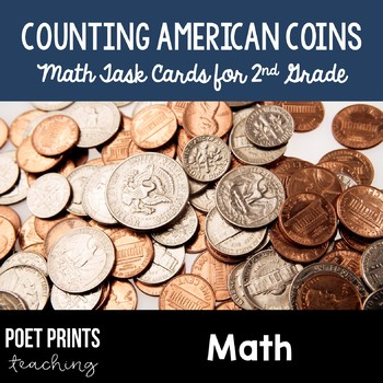 Counting Coins Task Cards, Math Center