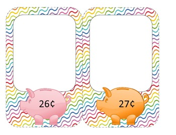 Money Task Cards (26 cents to 50 cents)