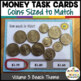 Money Task Cards 3--The Beach (Special Education-Coins to $2)