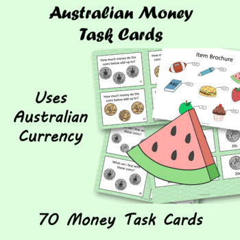 Australian Money Task Cards