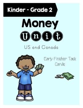 Money Task Cards Grade 1-2