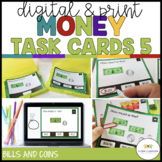 Money Task Cards 5: Fast Food (Coin and Bill Combos) {Autism; Special Ed}