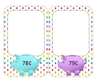 Money Task Cards (76 cents - 1 dollar)