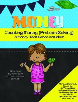 Money Task Cards B&W- Problem Solving
