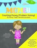 Money Task Cards Color- Problem Solving