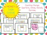Money Task Cards: Counting Coins: First; Second Grade; Special Ed. Autism