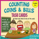Money Task Cards {Counting Coins and Bills}