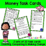 Money Task Cards: Counting, Comparing and Making Change