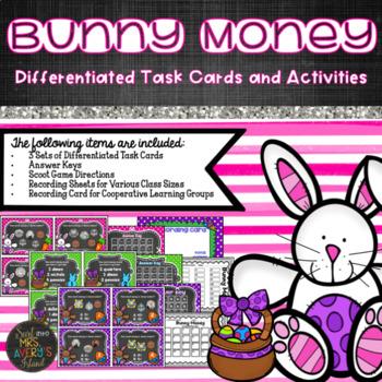 Spring Activities - Money Task Cards - Easter Math Activities