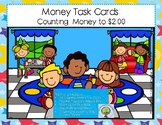 Money Task Cards: Counting Money to $2.00