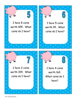 Money Task Cards for Enrichment